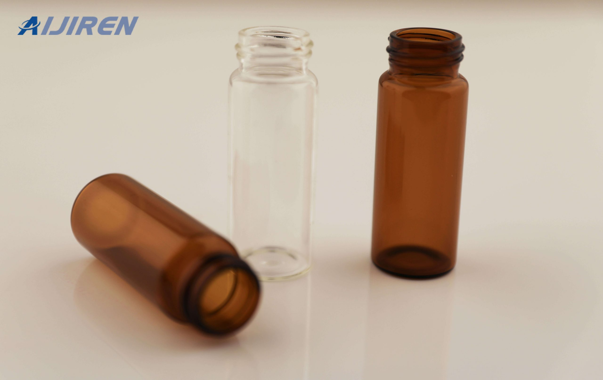 Amber and Clear Screw Sample Storage Vials