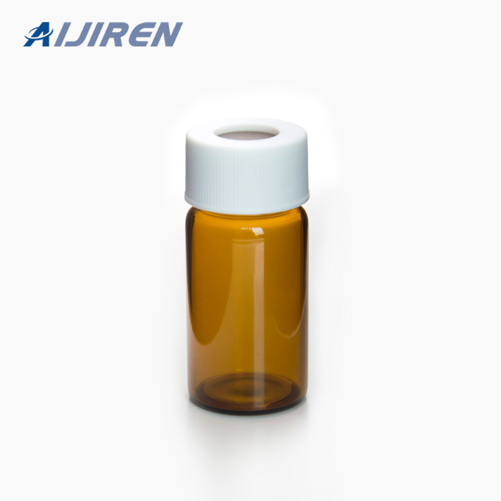 20ml Amber Glass Vial with White PP Cap