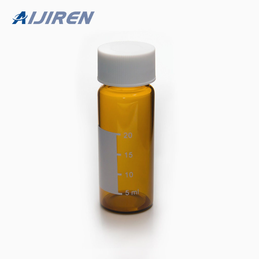 20ml headspace vial30ml Amber Glass Sample Storage Vial with White Cap