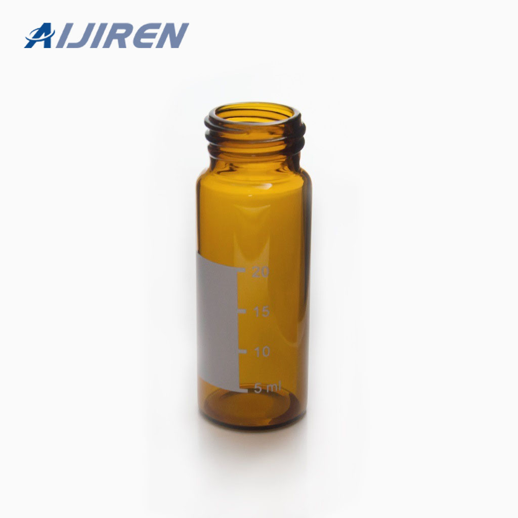 30ml Amber Glass Vial with Label Area