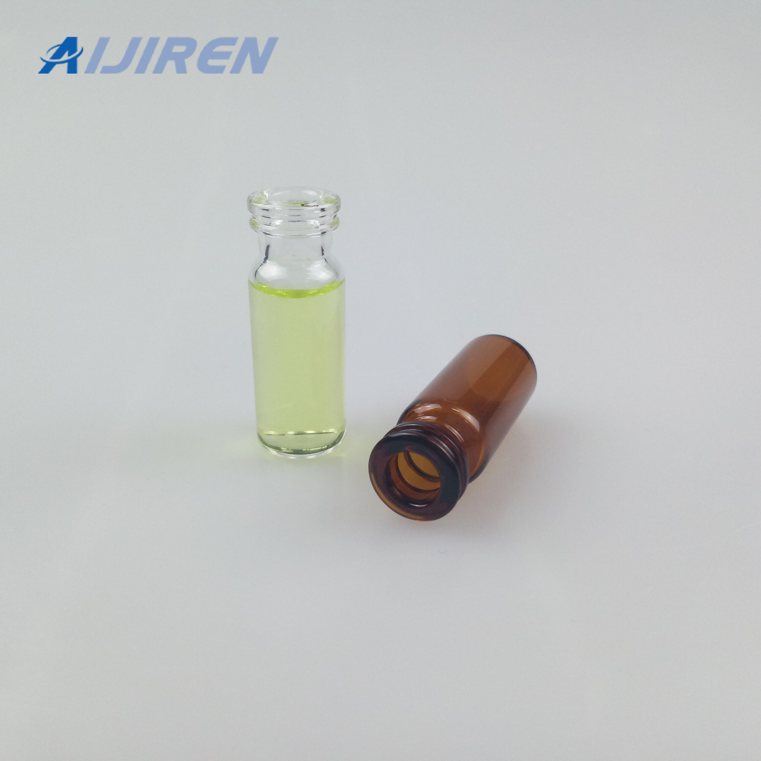 20ml headspace vialAmber and Clear Glass Vial with Label Area