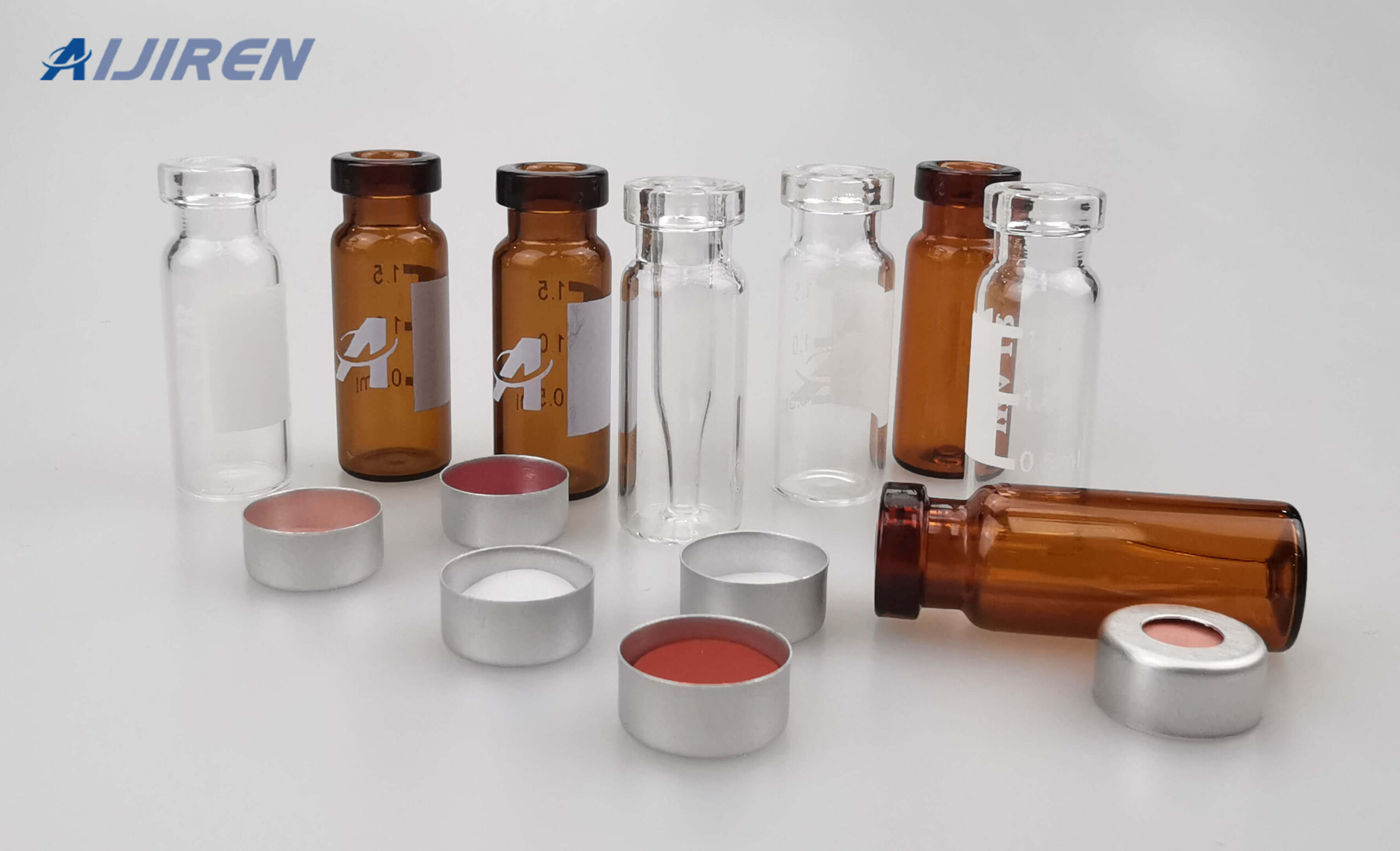 20ml headspace vial11mm Crimp Vial with Aluminum Caps for Sale