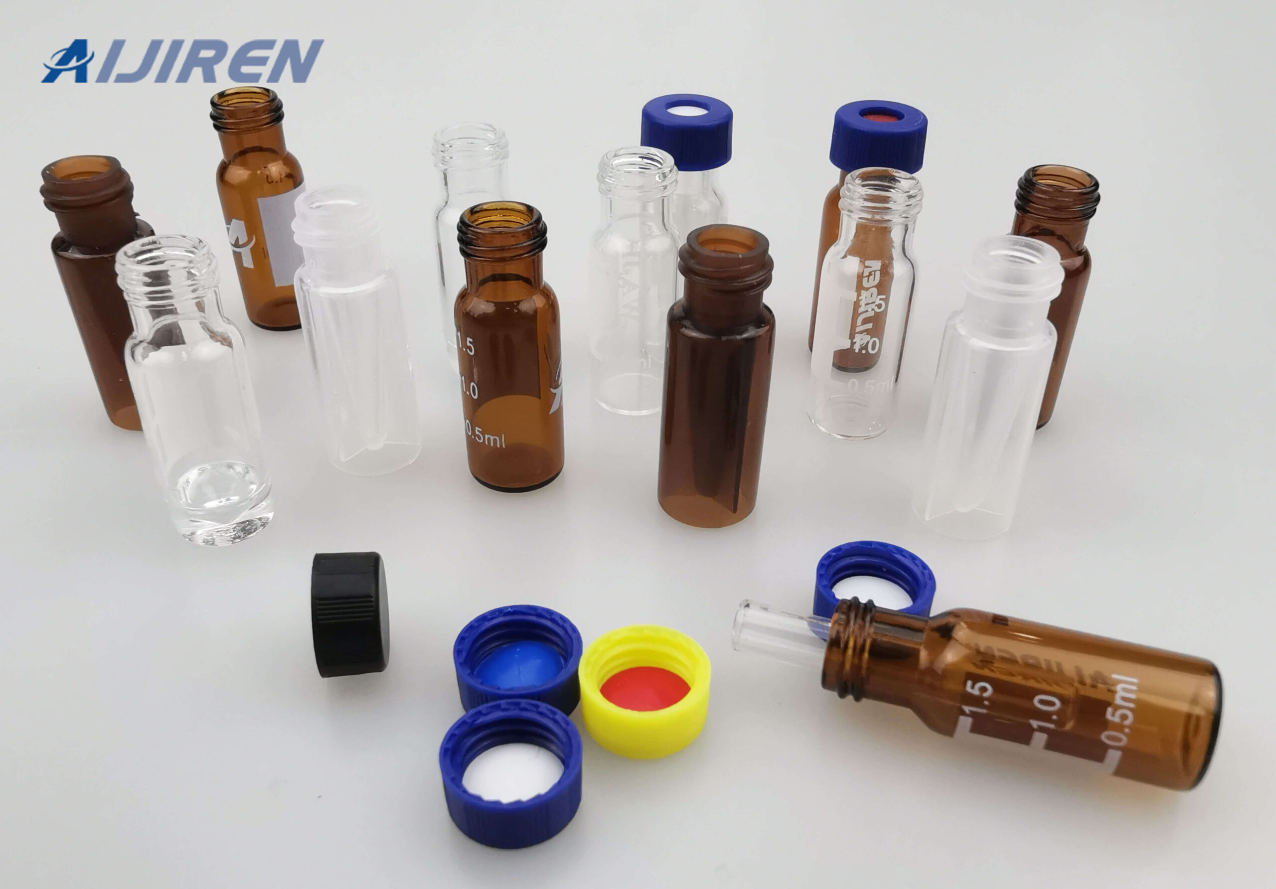 9mm PP Caps with Septa for Screw Vial