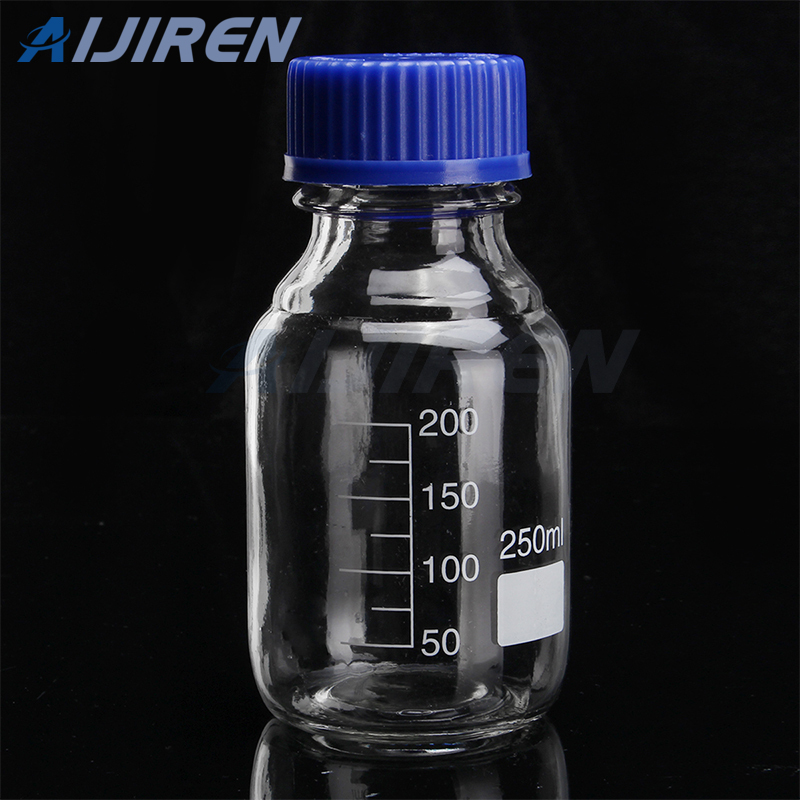 Clear Glass 250Ml Reagent Bottle With Blue Cap