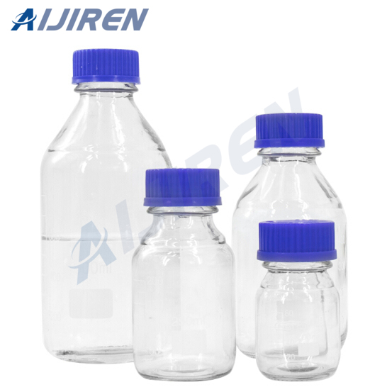 Clear Reagent Bottle With Gl45 Closures