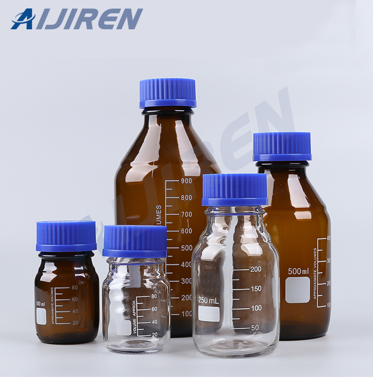 Glass Reagent Bottle With Screw Closures
